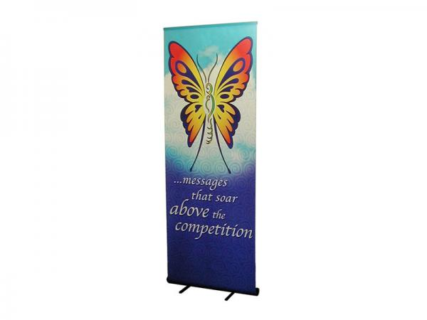 "Courier Banner Stand - 33""w x 88""h Lightweight Portable Banner Stand"