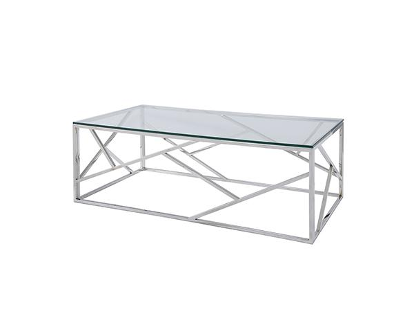 Alondra Cocktail Table w/ Glass Top -- Trade Show Rental