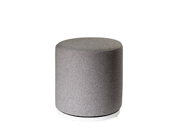 CEOT-035 (Gray Fabric) | Marche Swivel Ottoman -- Trade Show Rental Furniture
