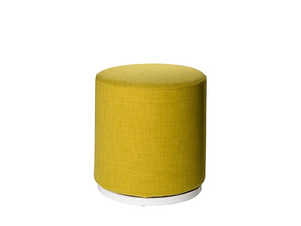 CEOT-038 (Pear Yellow) | Marche Swivel Ottoman -- Trade Show Rental Furniture