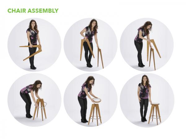 OTM Portable Table and Chairs -- Chair Assembly