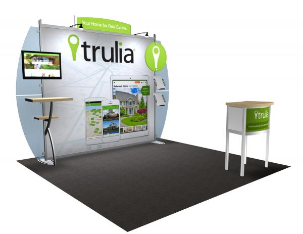 VK-1228 Portable Hybrid Trade Show Exhibit -- Convex Wings