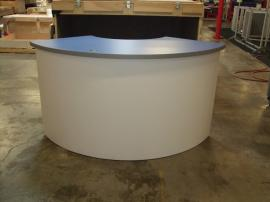 Custom (fully assembled) Reception Counter with Locking Storage and Shelves -- Image 1