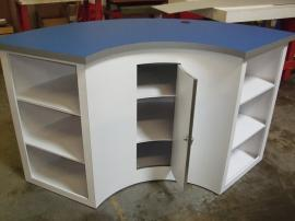 Custom (fully assembled) Reception Counter with Locking Storage and Shelves -- Image 2