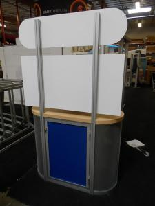MOD-1231 Counter Kiosk with Graphics and Storage -- Image 2