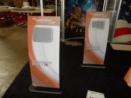 (2) MOD-1363 iPad Kiosk Stands with Tension Fabric Graphics -- Image 1