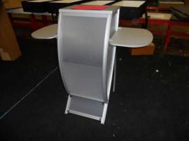 VK-1658 Perfect 10 Pedestal with Locking Storage and Side Shelves -- Image 1