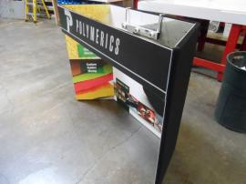 FT-07 Intro Folding Fabric Table Top with Backlit Header and Velcro-attached Graphics -- Image 2
