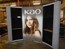 QD-118 Quadro Pop Up Display with Mural Graphics and Shelves