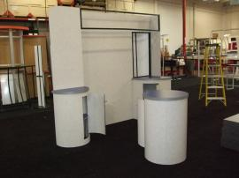 Euro LT Custom Modular Display with Peninsula Counter and Round Pedestal -- Image 1