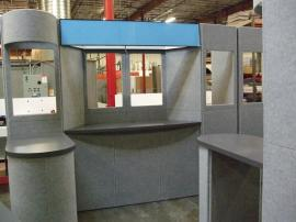 Multiple Intro Fabric Folding Panel Displays -- Image 1