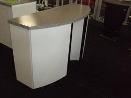(2) Custom Euro LT Modular Laminate Counters with Locking Storage:  (1) Counter with Lightbox Option; (1) Counter with Acrylic Divider -- Image 1
