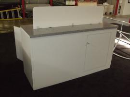 (2) Custom Euro LT Modular Laminate Counters with Locking Storage:  (1) Counter with Lightbox Option; (1) Counter with Acrylic Divider -- Image 3