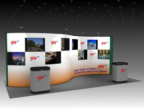 QD-208 Trade Show Pop-up Display