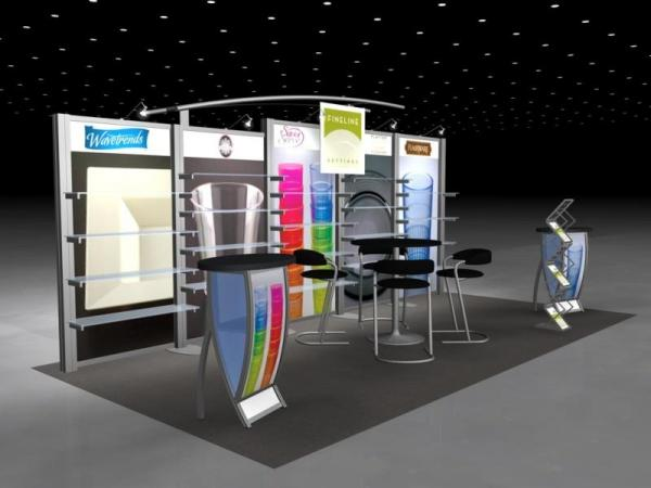 RE-2023 Rental Exhibit / 10� x 20� Inline Trade Show Display � Image 2