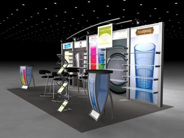 RE-2023 Rental Exhibit / 10� x 20� Inline Trade Show Display � Image 3