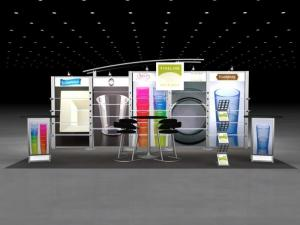 RE-2023 Rental Exhibit / 10� x 20� Inline Trade Show Display � Image 1