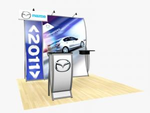 RE-1011 Rental Exhibit / 10� x 10� Inline Trade Show Display � Image 1