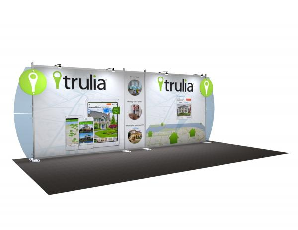 VK-2108 Portable Hybrid Trade Show Exhibit -- Convex Wings